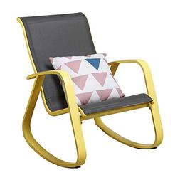 Grand patio Modern Sling Rocking Chair, Glider with Yellow A