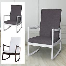 Modern Wood Rocking Chair Indoor Porch Furniture Padded Rock