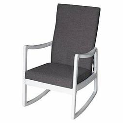 HOMCOM Modern Wood Rocking Chair Indoor Porch Furniture for