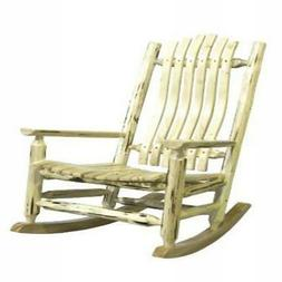 Montana Collection Adult Log Rocker, Clear Lacquer Finish