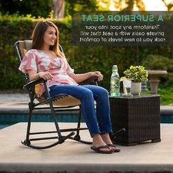 New Folding Rocking Chair Rocker Outdoor Patio Furniture