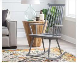 new indoor gray wood rocking chair country