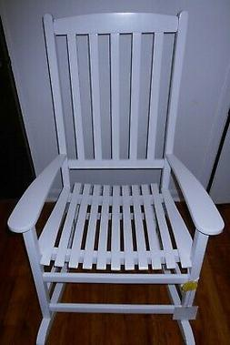 NEW WHITE WIDE WOODEN ROCKING CHAIR ROOM FURNITURE BABY BEDR