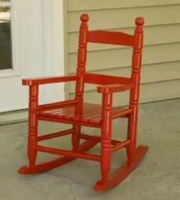 NIB Jack-Post KN-10R-JE Classic Child's Porch Rocker Red