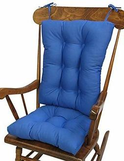 The Gripper Non-Slip Twill Rocking Chair Cushions, Blue Summ