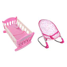 baby doll rocking chair cradle bed crib