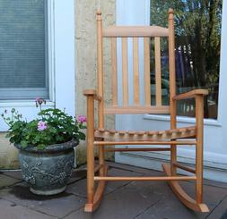 OAK Wooden Porch Rocker Rocking Chair Furniture Baby Nursery