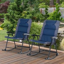 outdoor camping hiking rocking chair folding padded