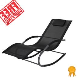 Outdoor Chaise Lounge Chair Patio Rocking Garden Furniture S