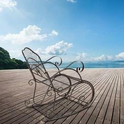 Outdoor Iron Rocking Chair Patio Porch Rocker Patio Furnitur