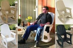 Outdoor Patio Rocking Chair Plastic Chairs Resin Rocker 600