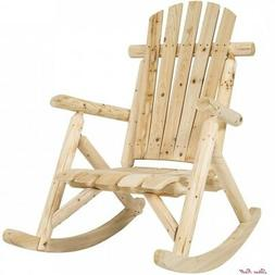 Outdoor Porch Rocking Chair Patio Wooden Garden Accessories