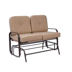 Outdoor Swing Glider Rocking Chair Patio Bench for 2 Person
