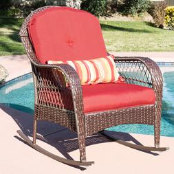 outdoor wicker rocking chair rattan porch deck