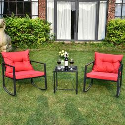 Outdoor Wicker Sofa Set Patio Rattan Sectional Furniture Gar