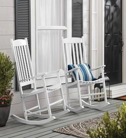 Mainstays Outdoor Wood Porch Rocking Chair, White Color, Wea