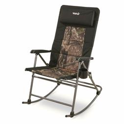 Oversized Rocking Camp Chair 500-lb Capacity Mossy Oak Break