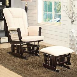 Paola Accent Glider Rocking Chair & Ottoman Comfort Padded B