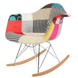 Patchwork S Mid Century Modern Vintage Molded Shell Plastic