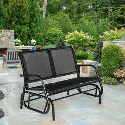 Patio Double Glider Loveseat Swing Rocking Bench Porch Garde
