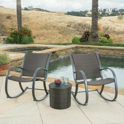 Outdoor Patio Furniture 6pc Brown PE Wicker Chaise Lounge Ch