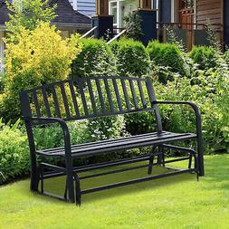 Patio Garden Glider 2 Person Outdoor Porch Bench Rocking Cha