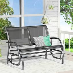 Outsunny Patio Garden Glider Bench 2 Person Double Swing Cha