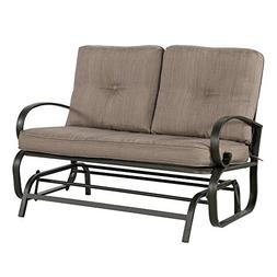 Cloud Mountain Patio Glider Bench Outdoor Cushioned 2 Person