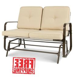 Patio Glider Loveseat Rocking Chair Bench Seating Outdoor De