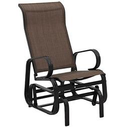 Giantex Outdoor Patio Glider Rocking Chair Bench Rocker Pati