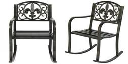 Patio Metal Rocking Chair Porch Seat Deck Outdoor Backyard G