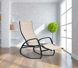 Patio Rocking Chair Home Recliner Indoor Outdoor Lounger Gar