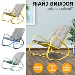 patio rocking chair indoor outdoor furniture padded