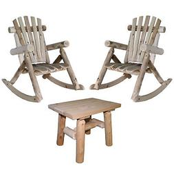 Lakeland Mills Patio Rocking Chair   with End Table