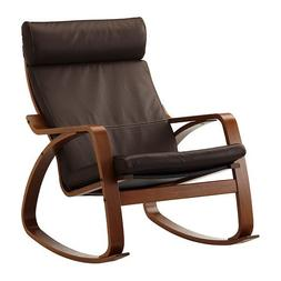 Ikea Poang Rocking Chair Medium Brown with Robust Dark Brown