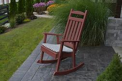 POLY CLASSIC ROCKING CHAIR *CHERRY WOOD COLOR* - PORCH ROCKE