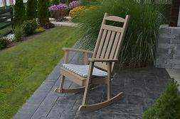 poly furniture wood rocking chair weathered wood