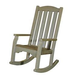 "Sunjoy Large Polywood Rocker, 35"" by 32"" by 43.3"", Grey Gree"