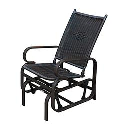 SunLife Porch Patio Glider Rocking Chair,PE Rattan Wicker St