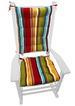 Barnett Products Porch Rocker Cushion Set - Westport Cabana