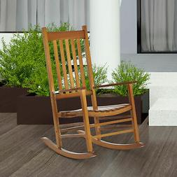 Porch Rocking Chair Solid Wood Home Traditional Bench Furnit