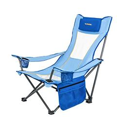 WeJoy Portable Mesh Back Beach Camping Folding Chair with Cu