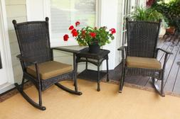 Portside 3 Piece Rocker Seating Group with Cushions Finish:
