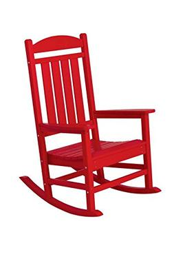 POLYWOOD R100SR Presidential Rocker, Sunset Red