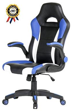 SEATZONE Racing Car Style Bucket Seat Gaming Chair with Flip