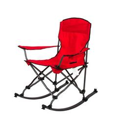 red collapsible foldable rocking chair