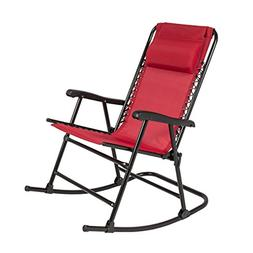 Red Rocking Chair Foldable Rocker Seat Camping Beach Outdoor