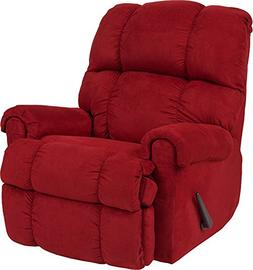 Flash Furniture Riverstone Sierra Cardinal Microfiber Rocker