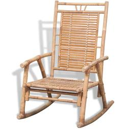 vidaXL Rocking Chair Bamboo Outdoor Patio Garden Porch Deck