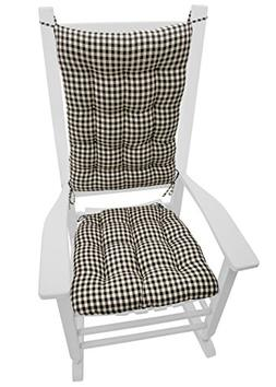 Barnett Products Rocking Chair Cushions - Checkers Black & C